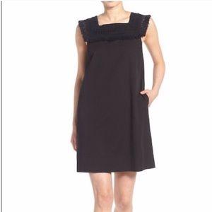 Madewell Sundream Fringe Black Shift Dress